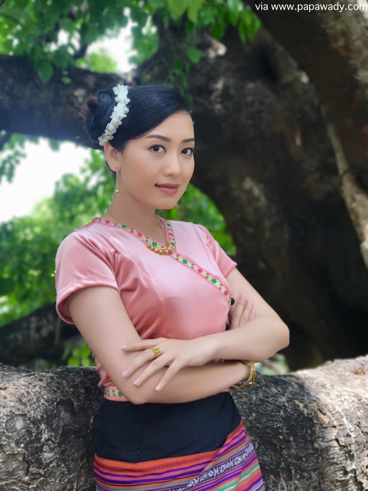 Yu Thandar Tin Fashion Style As A Myanmar Village Girl