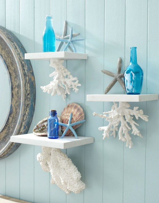Floating Coral Shelves from Wisteria