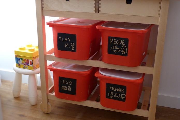 cajas de plástico con tapa (Trofast)