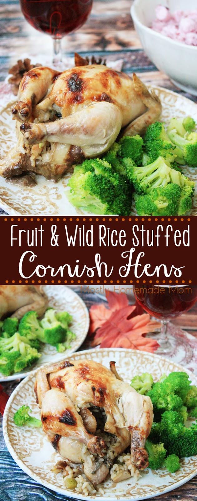 Fruit and Wild Rice Stuffed Cornish Hens Recipe
