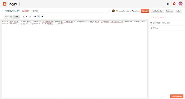 Cara Membuat Daftar Isi (Sitemap) Di blog Berdasarkan Label/Kategori Responsive
