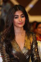 Pooja Hegde looks glamarous in deep neck sleevless short tight golden gown at Duvvada Jagannadham thank you meet function 133.JPG