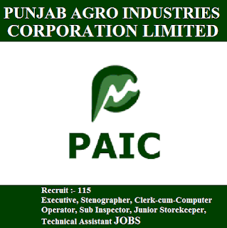 Punjab Agro Industries Corporation, PAIC, 12th, Punjab, Sub Inspector, Clerk, Store Keeper, Store Keeper, freejobalert, Sarkari Naukri, Latest Jobs, paic logo