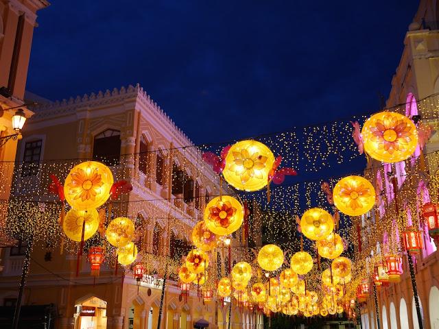 Mid-Autumn Festival lantern display at Largo do Senado in Macau