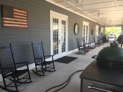 Rocking chairs are every where at K9s for Warriors. The vets sit and rock and pet their dogs all day long.