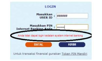 √ Cara membuka Blokir Internet Banking Mandiri karena Lupa User ID dan Password Internet Banking 5