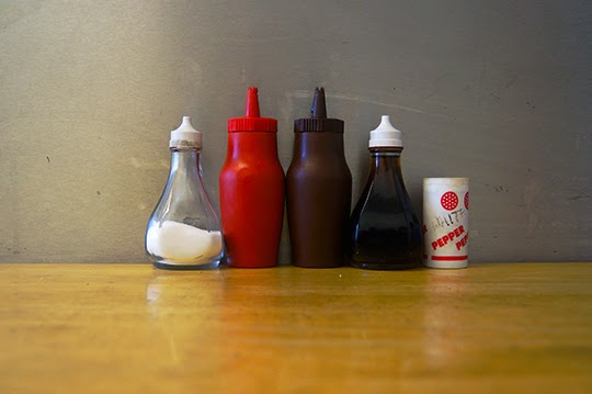 corner cafe, urban, photography, salt and pepper, condiments,