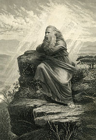 Moses on Mt. Nebo by Thomas Nast