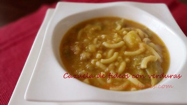deliciosidades - Cazuela de fideos con verduras