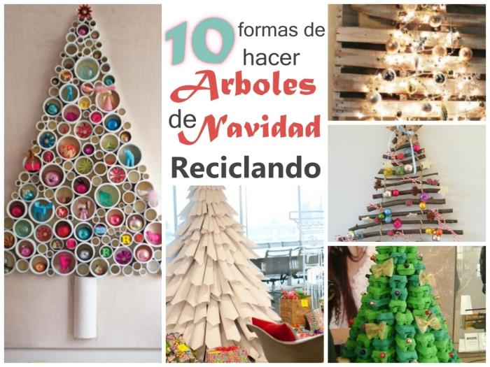 No Solo DIY 10 Arboles de Navidad DIY Reciclando