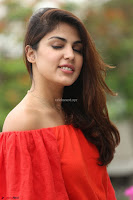 Rhea Chakraborty in Red Crop Top and Denim Shorts Spicy Pics ~  Exclusive 149.JPG