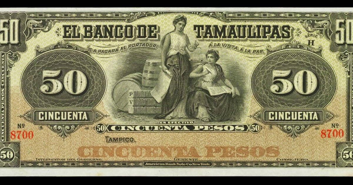 Mexico 50 Pesos Banknote 1902 Banco De Tamaulipas World Banknotes Amp Coins Pictures Old Money