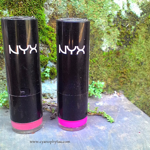 Review NYX Round Lipstick Tea Rose and Pink Lyric