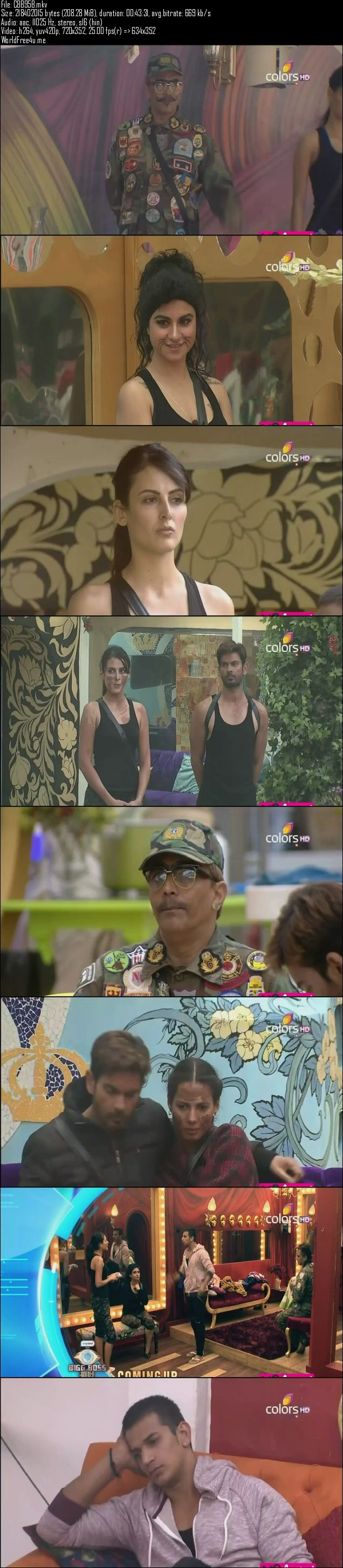 Screenshots Of Hindi Show Bigg Boss 9 14th January 2016 Episode 95 200MB 480P HD