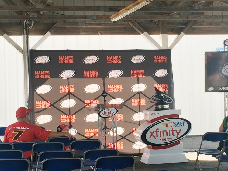 Xfinisty Series Race Drivers Meeting at Pocono Raceway