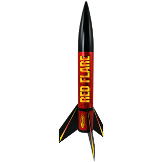 Estes Easy to Assemble Red Flare Model Rocket Kit, Model Rocket Store