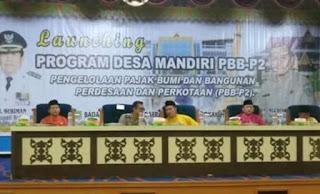 Lounching Program Desa Mandiri dan E-pajak PBB-P2