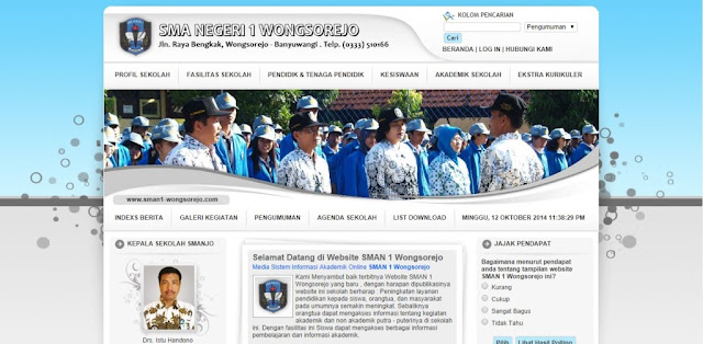 Source Code Website Sekolah PHP Mysql - Simple Native
