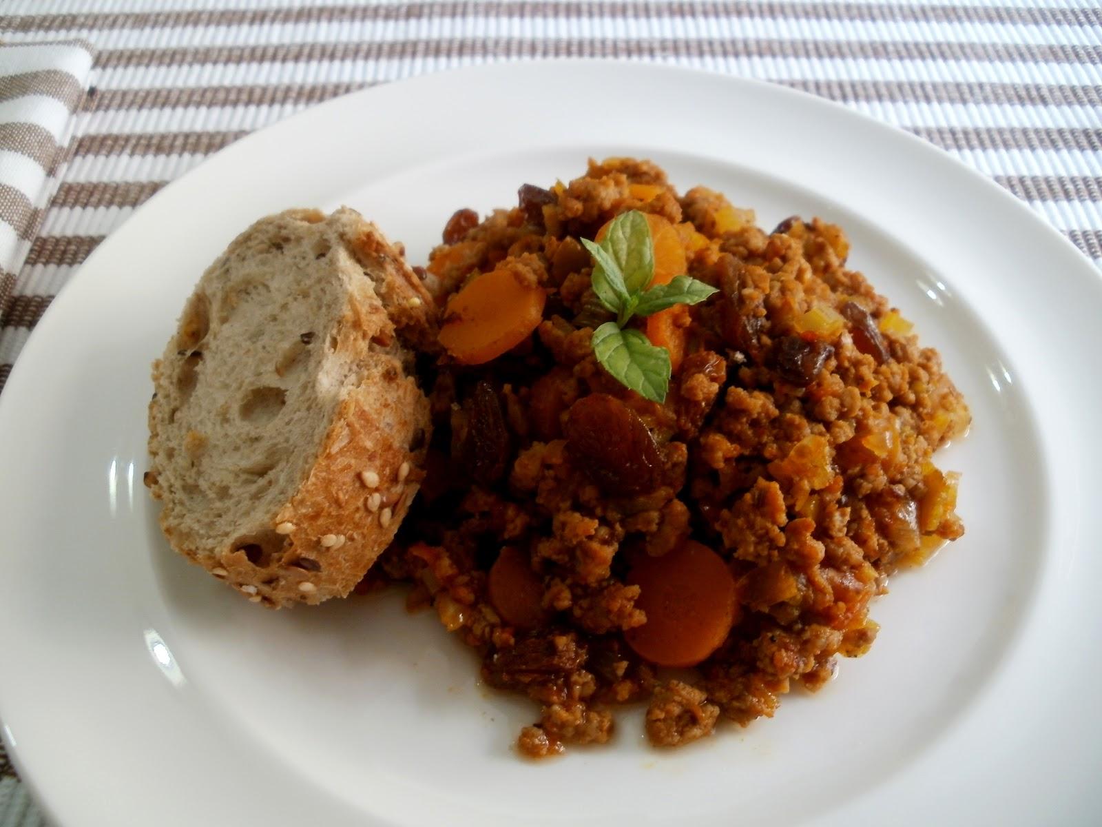 Los antojos de clara carne molida picada con verduras - Que cocinar con carne picada ...