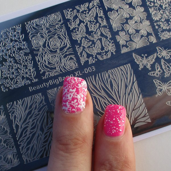 Flower Design Rectangle Nail Stamping Plate Butterfly Floral Theme Manicure Tool SKU:BBBXL-003