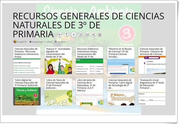 """""""10 RECURSOS GENERALES DE CIENCIAS NATURALES DE 3º DE PRIMARIA"""""""