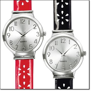 Avon Flower Perforated Strap Watch