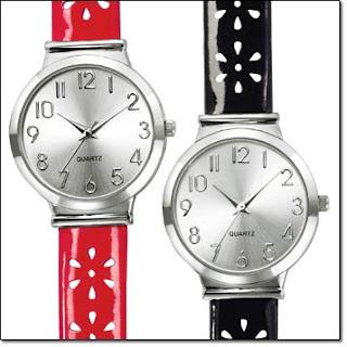 Avon Flower Perforated Strap Watch