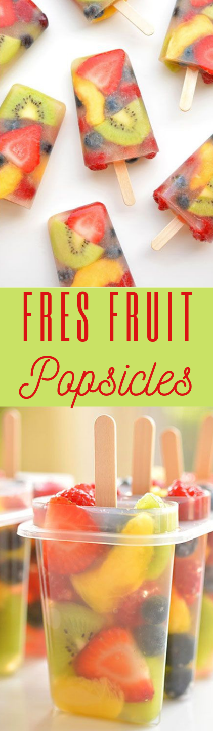 Fresh Fruit Popsicles  #salad #healthy