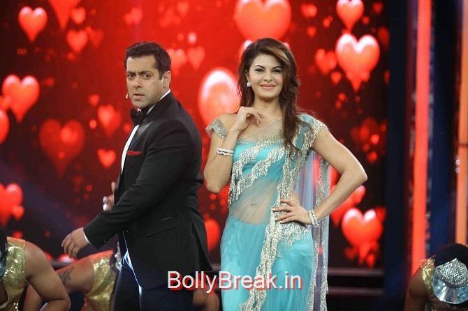 Arjun Rampal, Jacqueline Fernandez Bigg Boss 8 Roy Promotions Hot Images in Green Saree