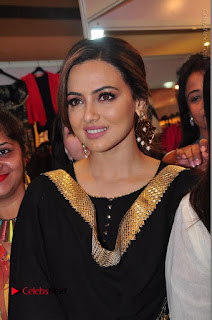 Bollywood Actress Sana Khan Launches Aakrithi Exibition  0103.JPG