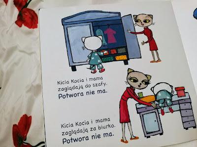 Kicia Kocia nie może zasnąć, książka, strach przed ciemnością, dziecko boi się ciemności