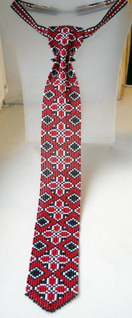 wzory krawatów koralikowych