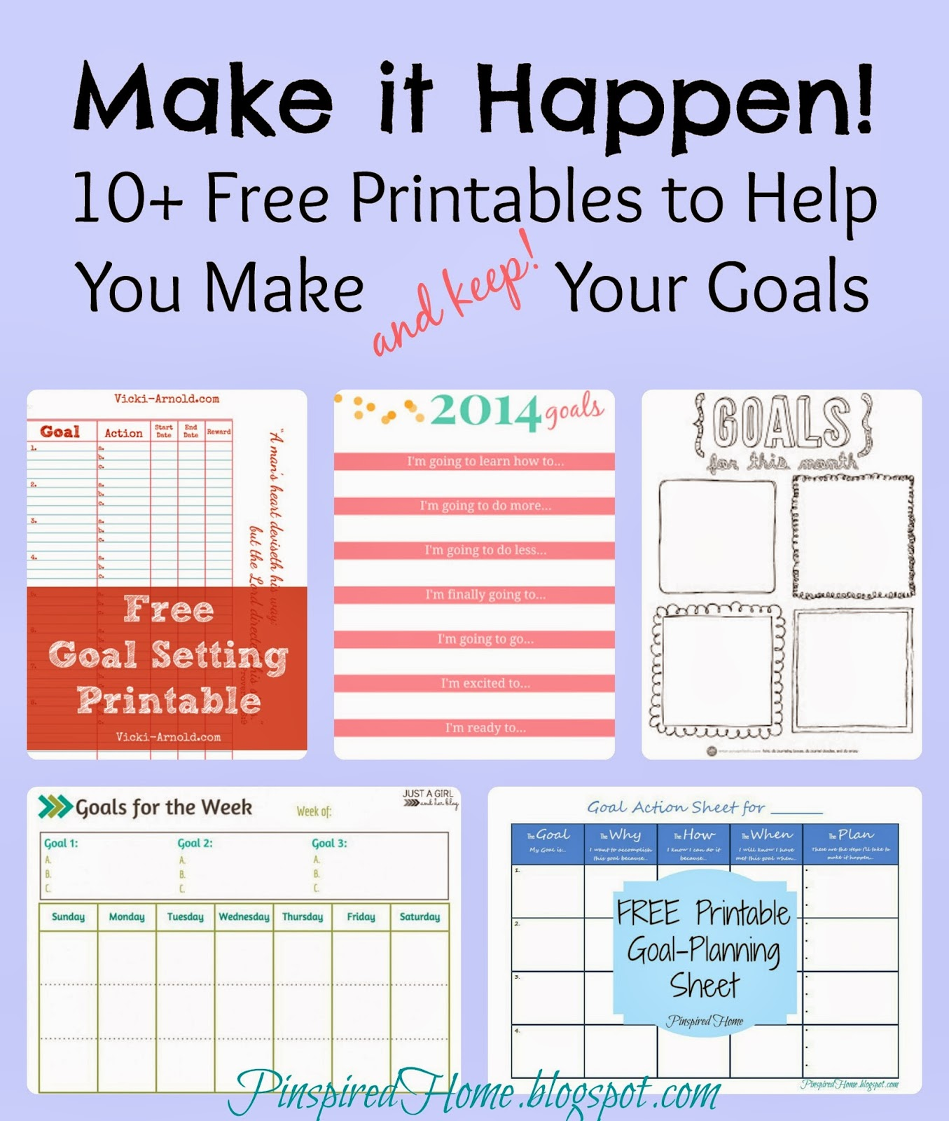 Pinspired Home Make It Happen 10 Free Printables To