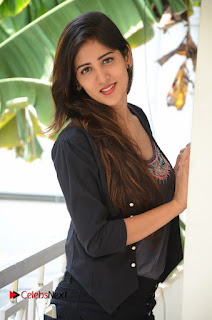 Actress Chandini Chowdary Pictures in Black Jeans at Interview  0081.JPG