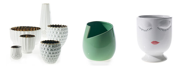 mid-century inspired vases - wholesale from Accent Decor