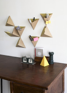 DIY origami triangle