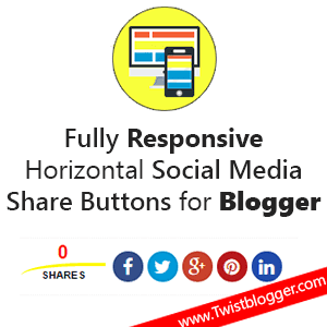 Add Custom Social Media Share Buttons to Blogger Below Post Title too Post Footer