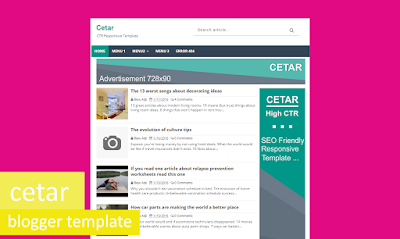 Cetar  Blogger Templates