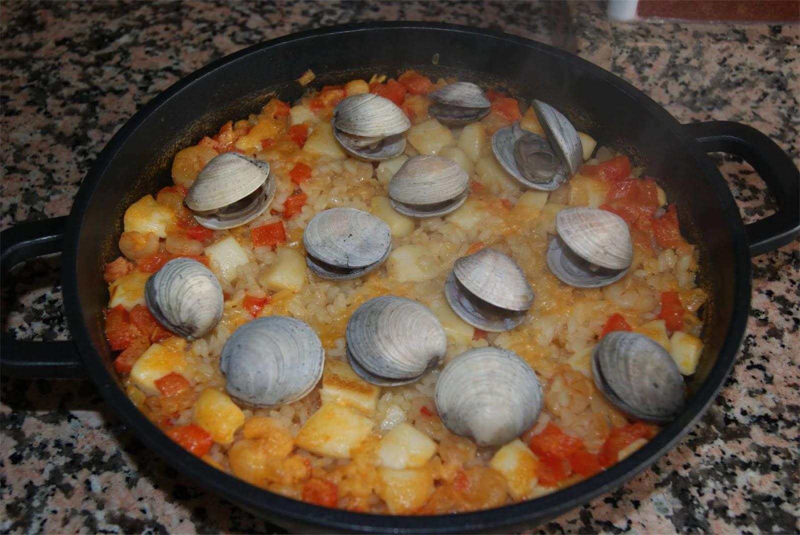 Receta de paella de marisco paso 5