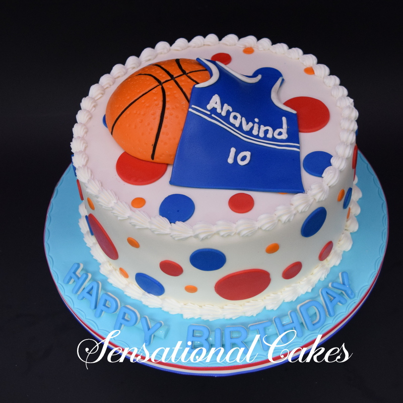 The Sensational Cakes Cream Cake With 3d Design For Basketball
