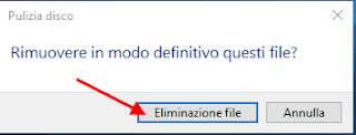 Conferma eliminazione file