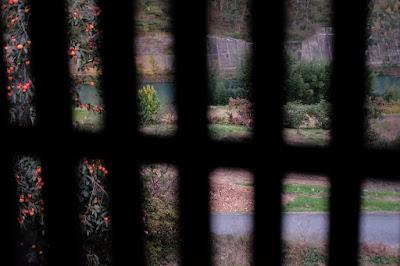 古民家カフェ・ひとつ石 秘密の部屋からの眺め