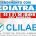 Atendimento com Pediatra dia 20 e 21 de junho na Clilab em Ruy Barbosa