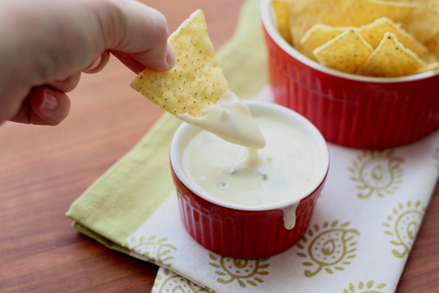 The BEST Queso Blanco Dip ~ Spicy White Cheese Dip recipe by Barefeet In The Kitchen
