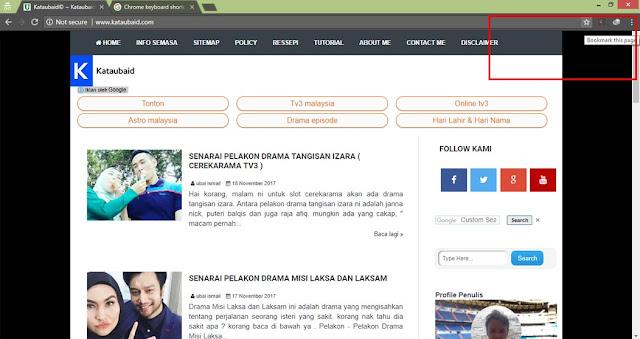 Cara 'Bookmark' Laman Web
