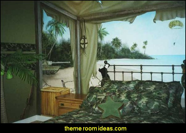 Decorating theme bedrooms maries manor for Army wallpaper mural