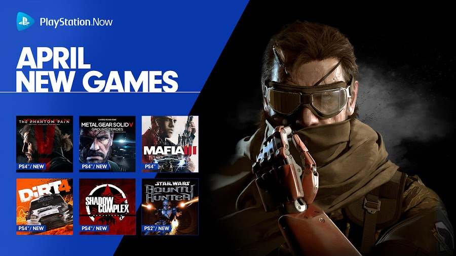 playstation now dirt 4 metal gear solid 5 ground zeroes phantom pain ps4 lineup