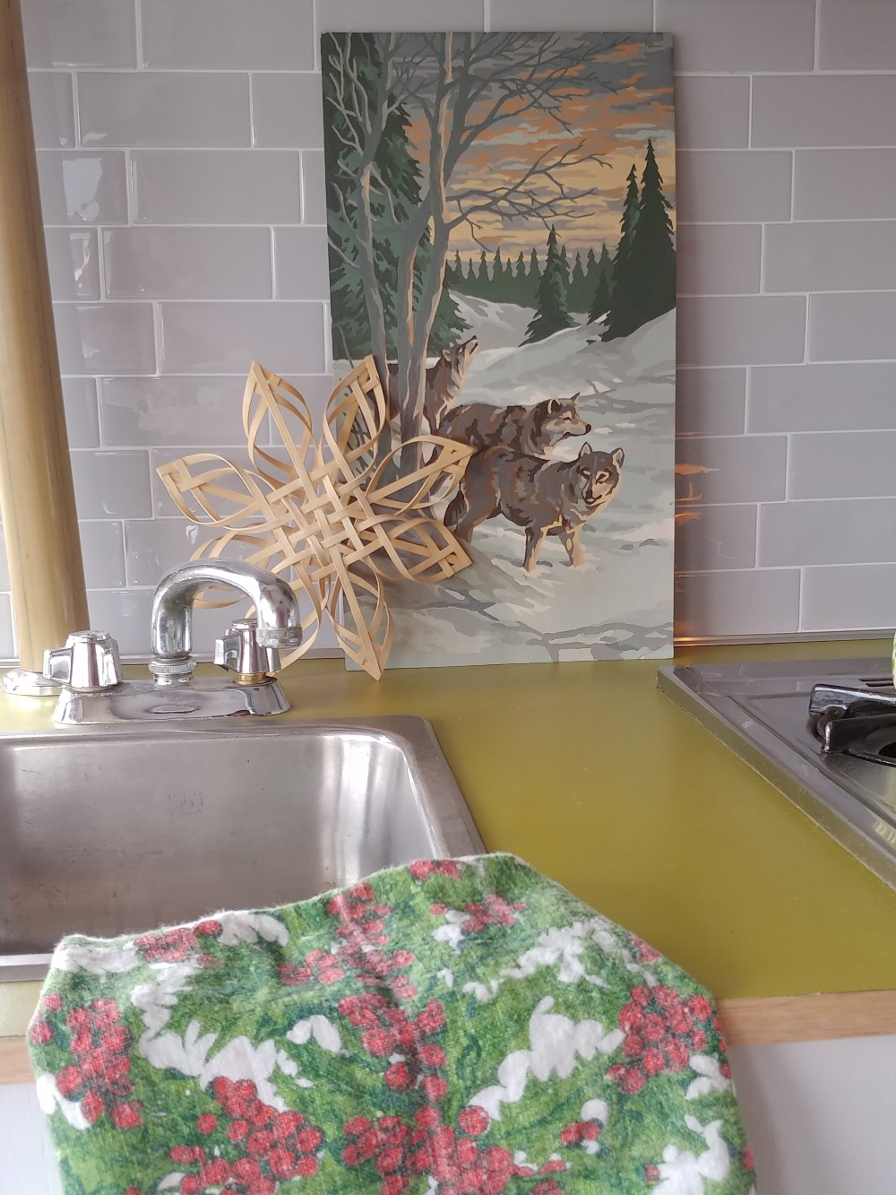 Christmas motorhome kitchen decor