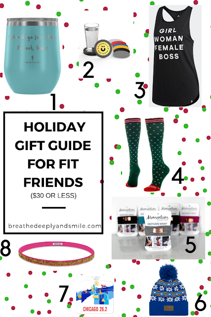 Holiday Gift Guide for Fit Friends {$30 or less!}