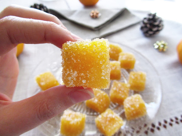 Pâte de fruit orange et fève Tonka